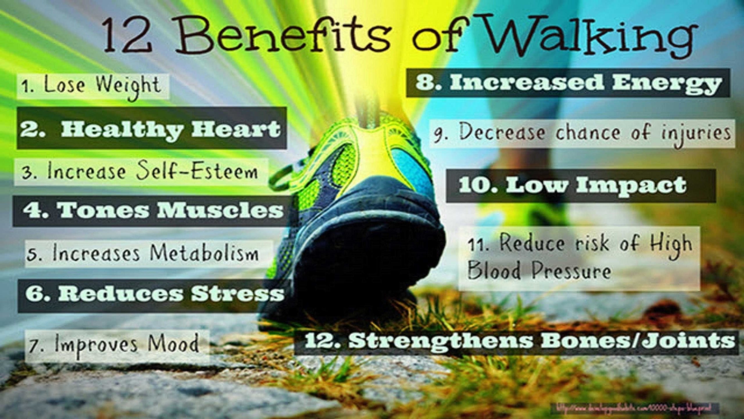 12BenefitsOfWalking